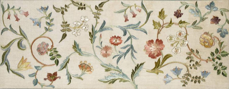 Embroidered tapesty by May Morris