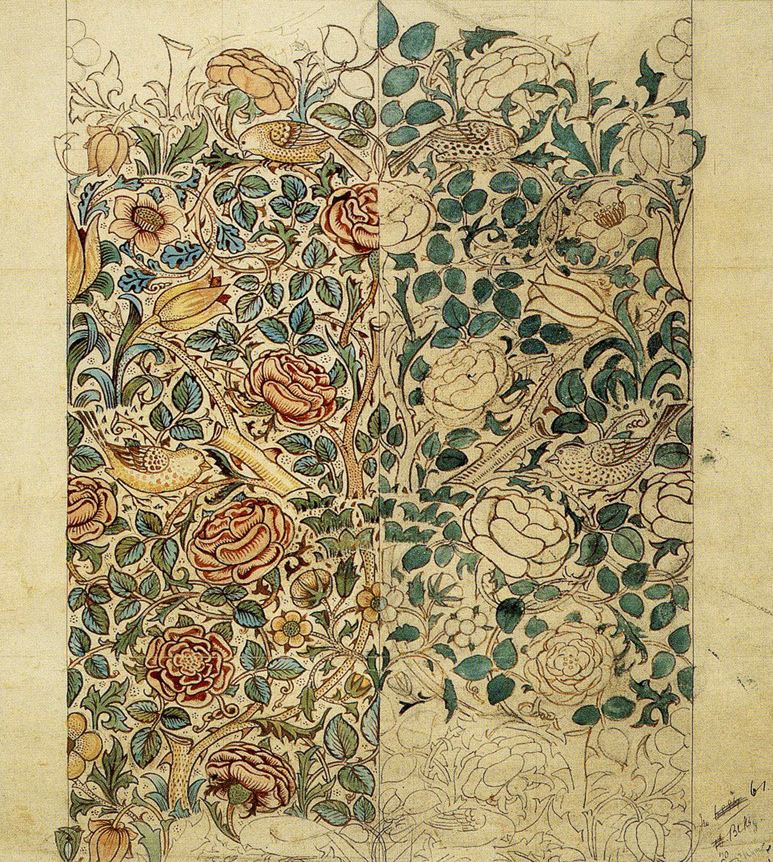 The ''Briar Rose'' design by William Morris, in progress