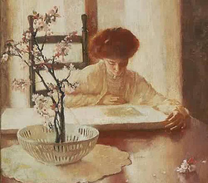 Nancy Reading by Lillian Everett Hale