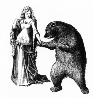 Woman & bear