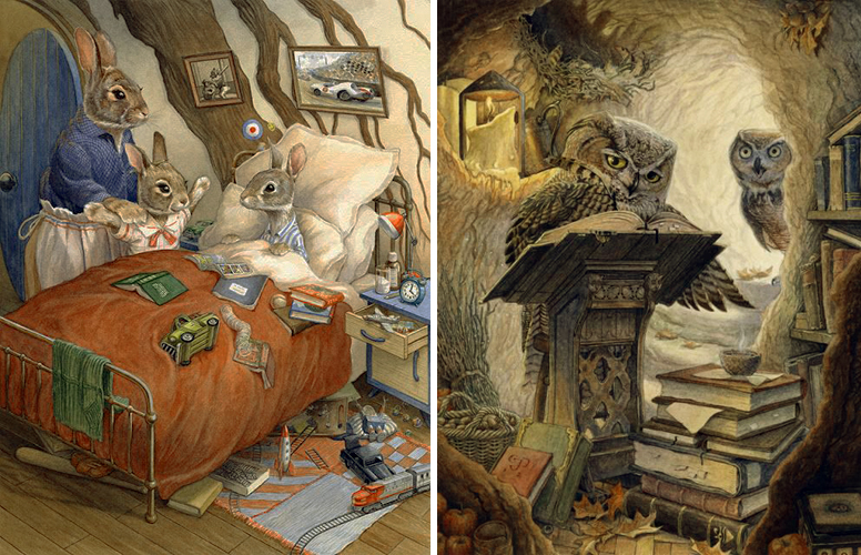Bedside Visit and Autumn Scribe by Chris Dunn