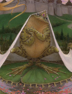 A detail from The Frog Bride by Virginia Lee