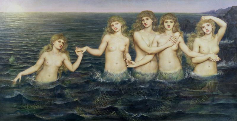 Sea Maidens by Evelyn de Morgan