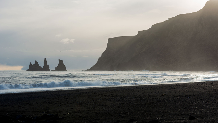On the coast of South Iceland