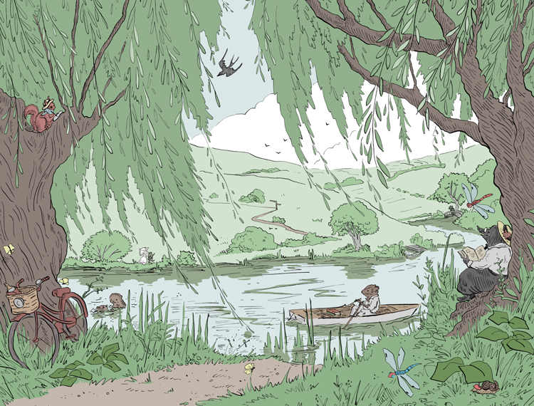 The River Bank by Kathleen Jennings
