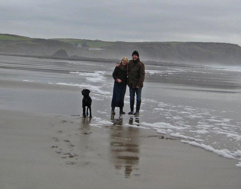On the north Devon coast