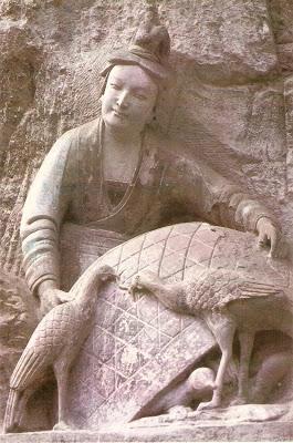 Dazu stone carving of a Chinese Hen Wife