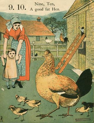 Nursery rhyme illustrated by Walter Crane