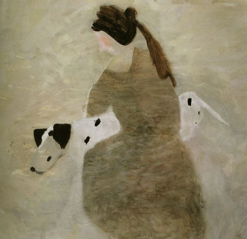 The Girl With the Dalmation by Mary Newcomb
