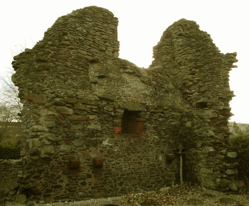 The remnants of the Rhymer's Tower in Earlston, Scotland
