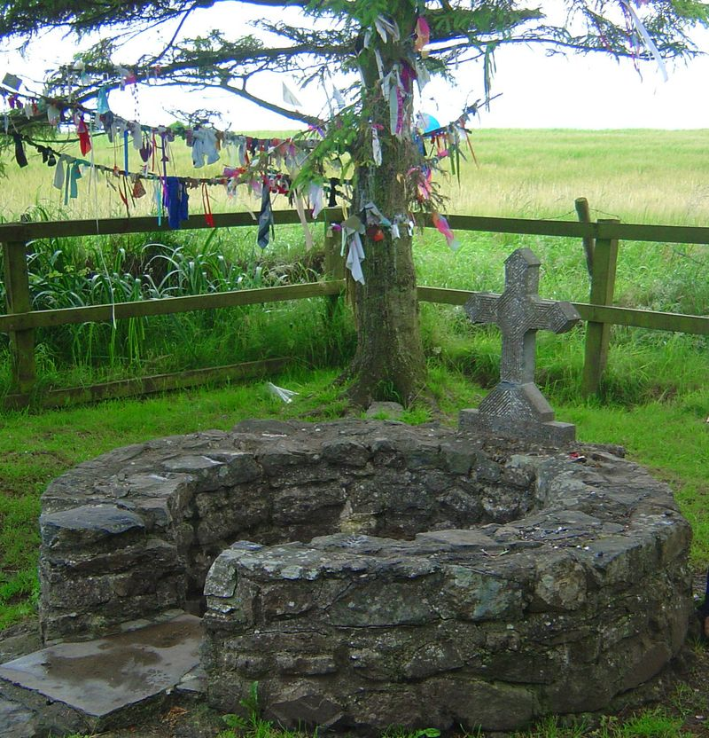 Clotties by St. Brigid's Well, Kildare, Ireland