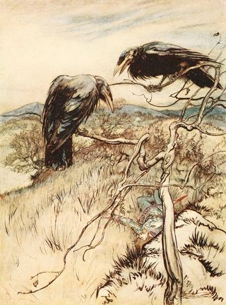 The Twa Corbies by Arthur Rackham