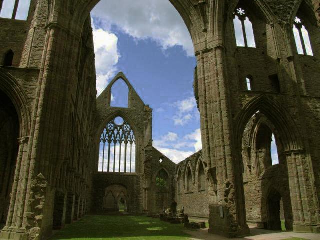 Inside Tintern Abbey by Pam Brophy