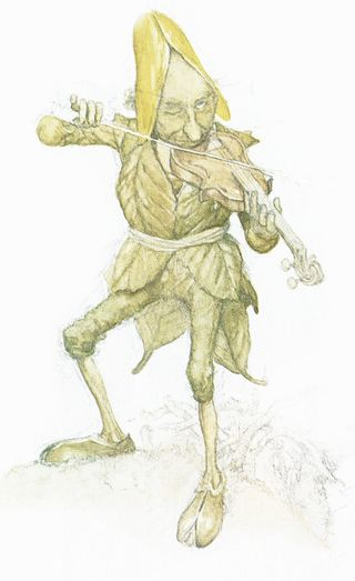 Fairy fiddler by Alan Lee