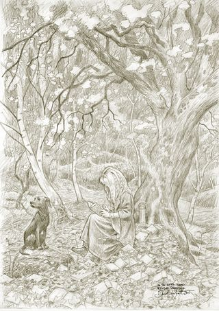 Sketch for In the Word Wood by David Wyatt