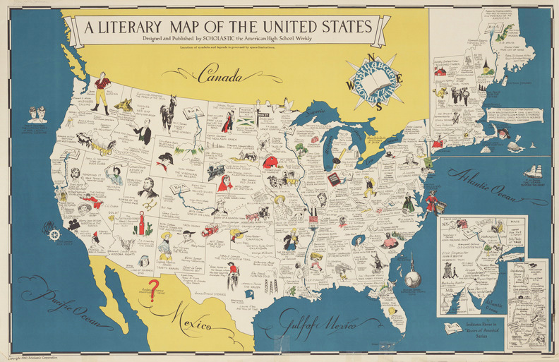 A literary map of the United States, 1940