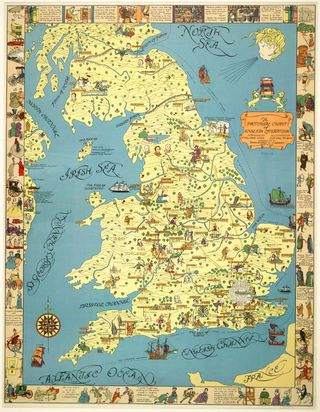 A pictorial map of English literature