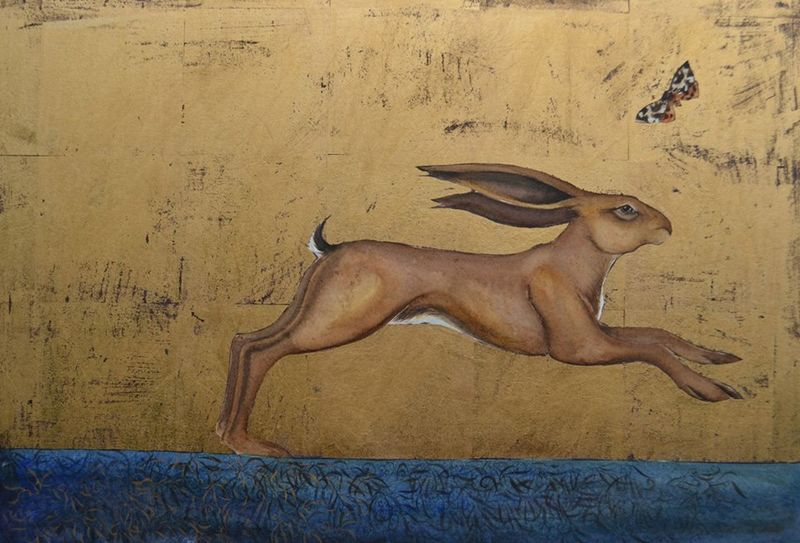 from Song of the Golden Hare by Jackie Morris