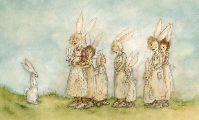 Bunny Troupe, copyright by Terri Windling