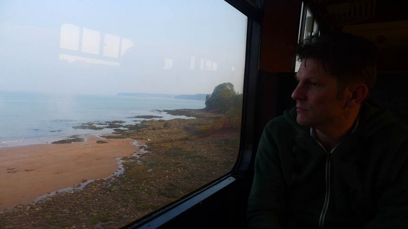 Howard on the train journey
