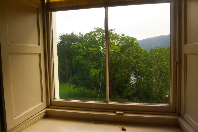 Agatha Christie's office window at Greenway