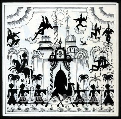 Drawing for The Arabian Nights by Kay Nielsen