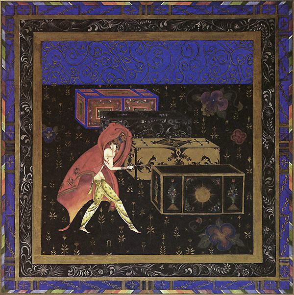 The Favorite Wife Smuggles a Young Man into the Harem in a Box by Kay Nielsen