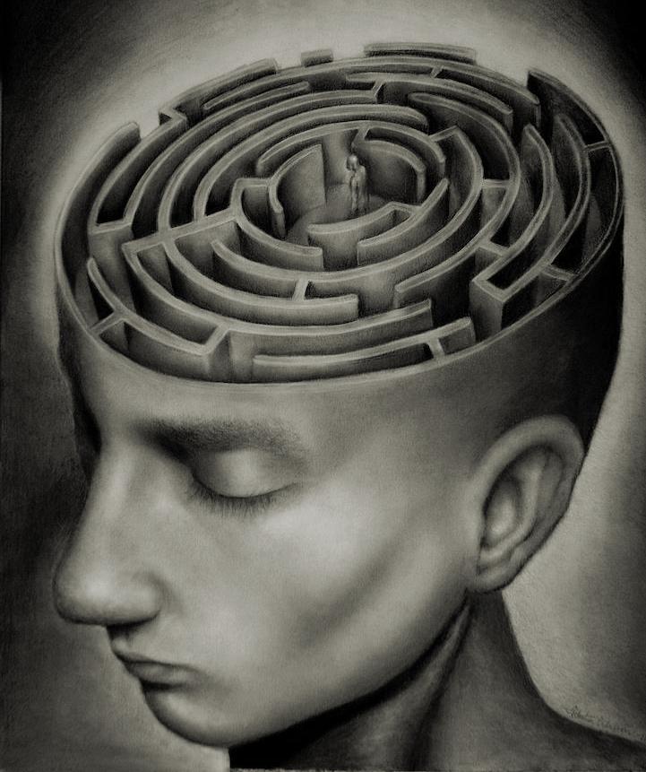 Labyrinth drawing by Sebastian Eriksson
