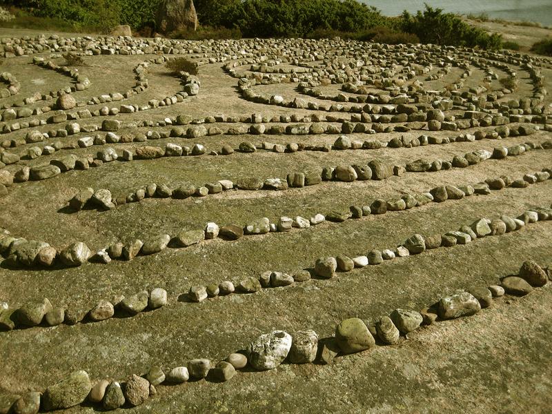 Maze at Bla Jungfrun island, Sweden
