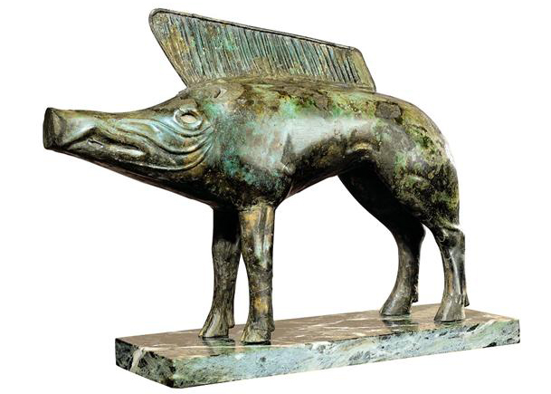Bronze boar statue from the Celtic sanctuary at Neuvy-en-Sullias (1st c. BCE)