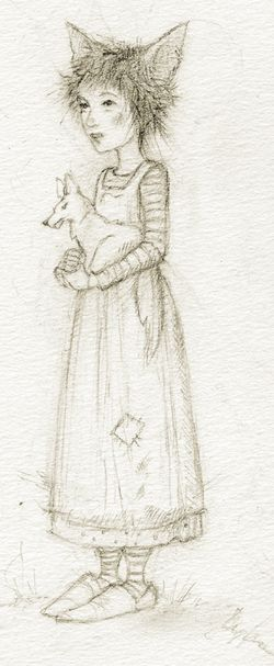 Fox Child, from one of my old sketchbooks
