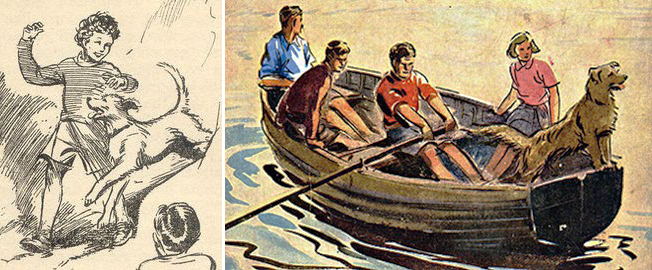 Famous Five cover art by Eileen Soper