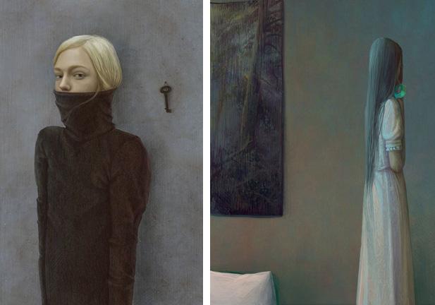 Bluebeard paintings by Gaila Zinko