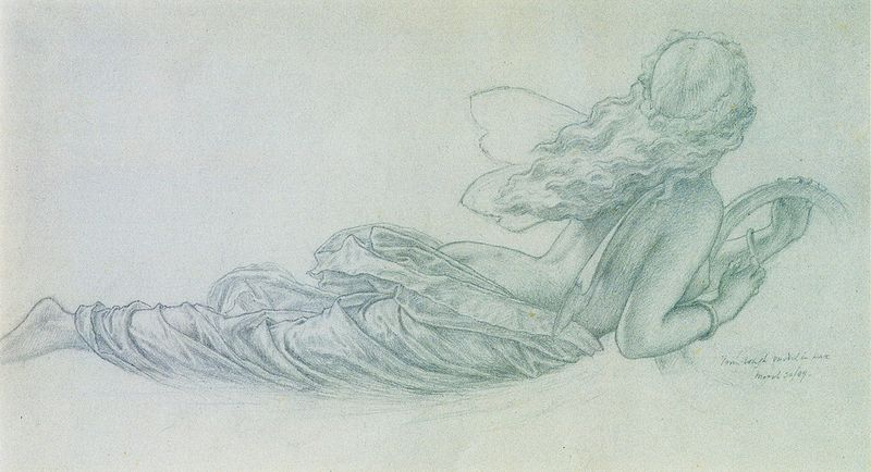 A Fairy in Flight by Sir Joseph Noel Paton