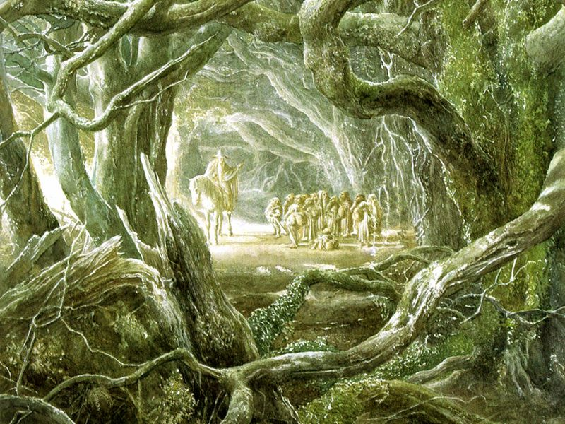 From JRR Tolkien's The Hobbit, illustrated by Alan Lee