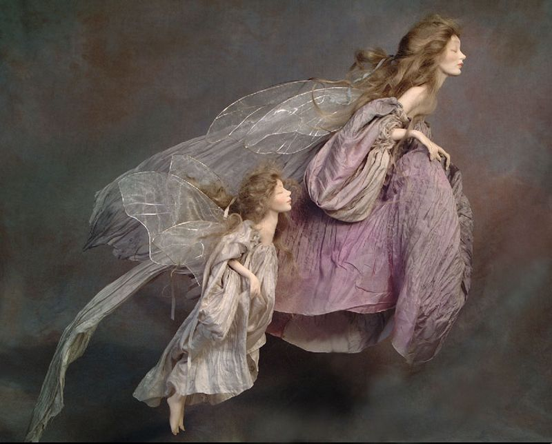 Faery sculpture by Wendy Froud