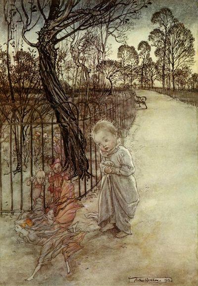 Follwing he Fairies by Arthur Rackham