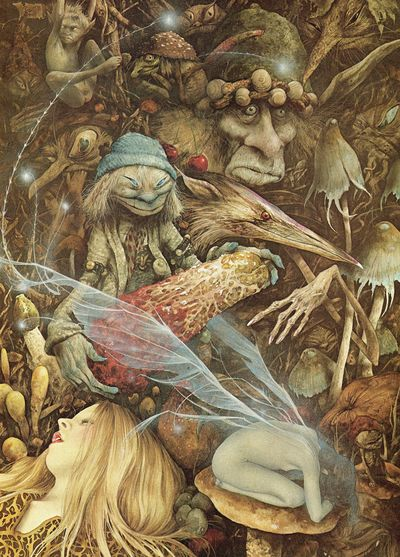 Fairies and piskies by Brian Froud