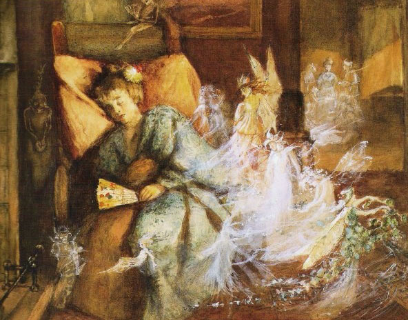 Fairy Visitation by John Anster Fitzgerald