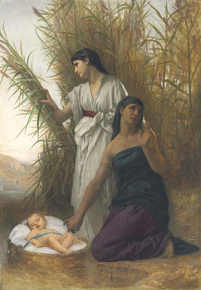 Moses in the Bullrushes by Elizabeth Jane Gardner