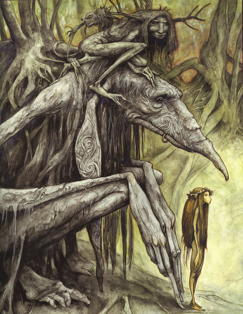 Troll Maiden with protectors by Brian Froud