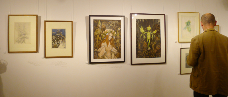 A wall of faeries by Alan Lee & Brian Froud