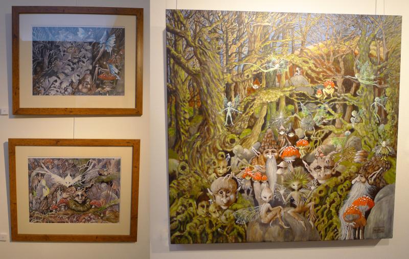 Faery paintings by Hazel Brown