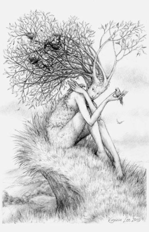Tree Nymph by Virginia Lee