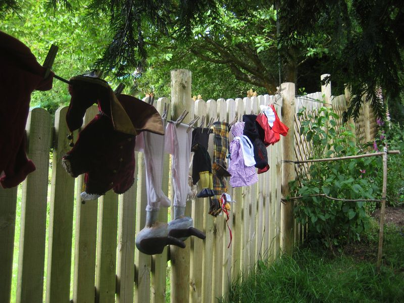 Puppets on a wash line