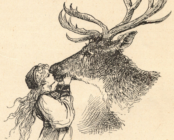 Gerda and the reindeer, by AW Balyes