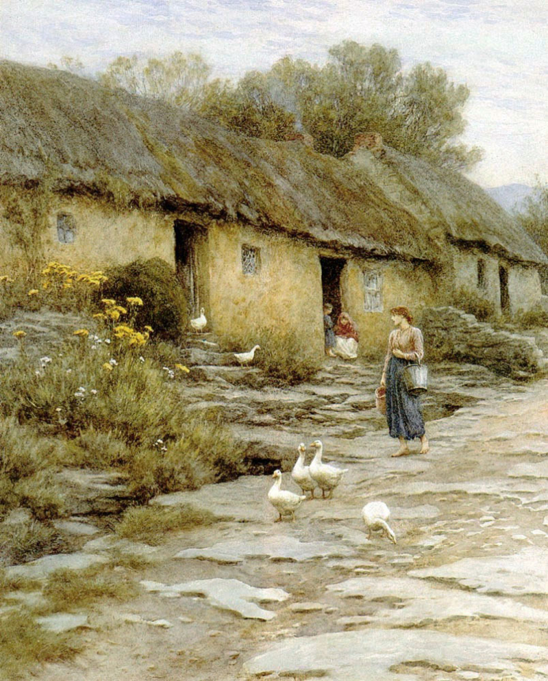 Goose Girl by Helen Allingham