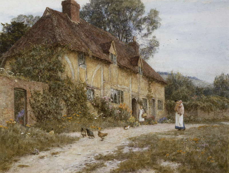 Kentish Cottage by Helen Allingham