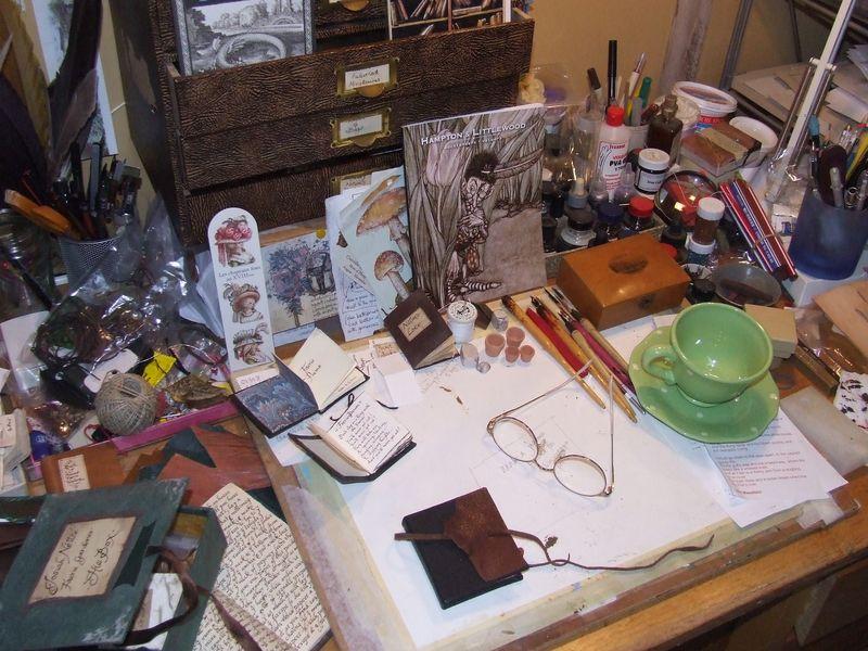 Hazel's desk