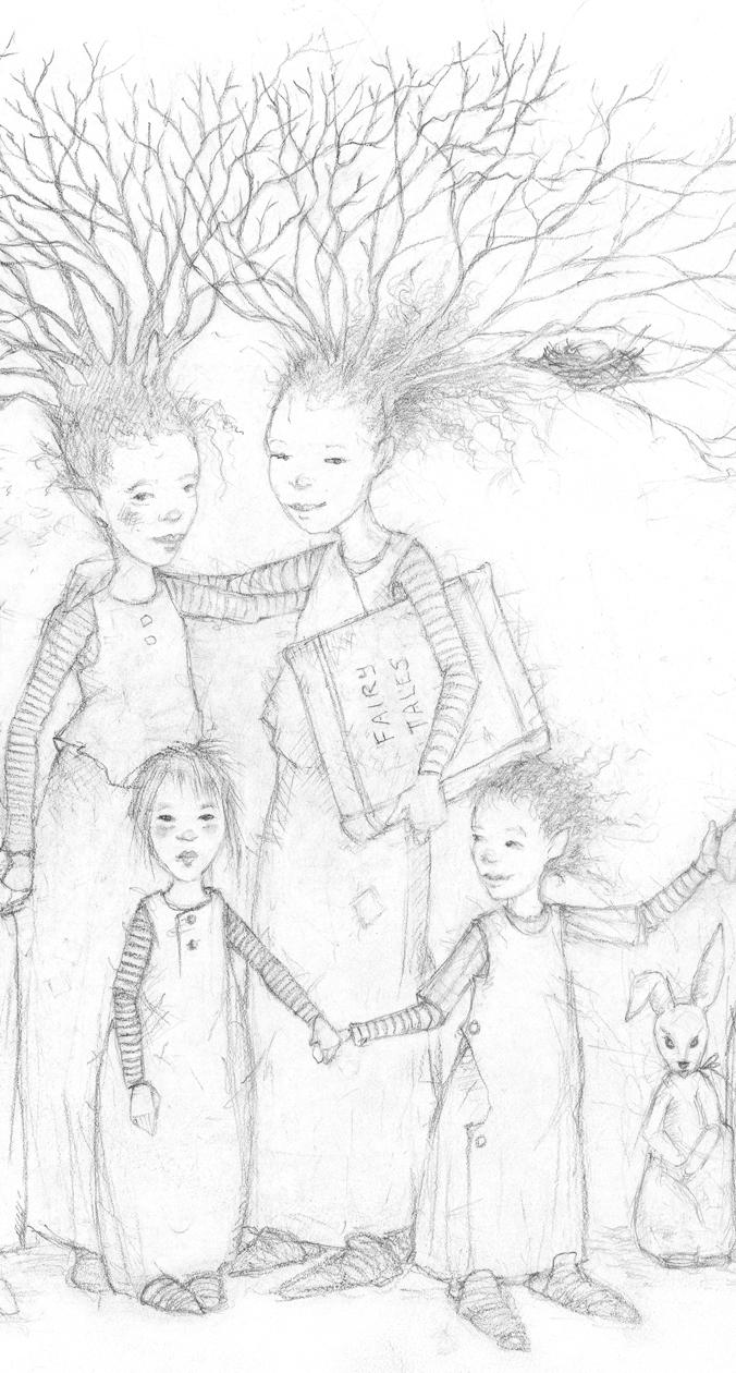 Drawing detail by Terri Windling